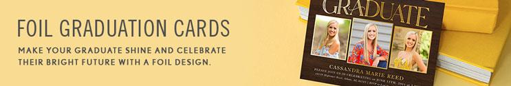 Foil Graduation Invitations & Announcement