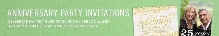 Wedding Anniversary Invitations & Photo Anniversary Invitations