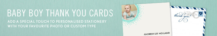 Baby Boy Thank You Cards