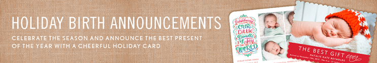 Holiday Birth Announcements & Christmas Birth Announcements
