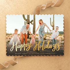 Foil<br>Holiday Cards