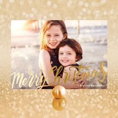 Foil-Stamped<br>Holiday Cards
